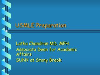 USMLE Preparation
