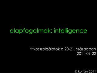 alapfogalmak: intelligence