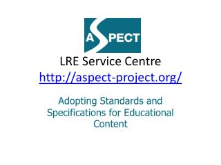 LRE Service  Centre aspect-project /