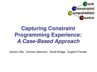 Capturing Constraint Programming Experience: A Case-Based Approach