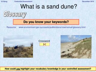What is a sand dune?