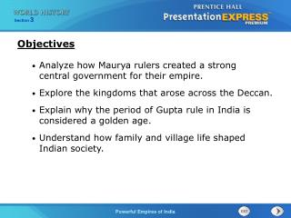 Analyze how Maurya rulers created a strong  central government for their empire.