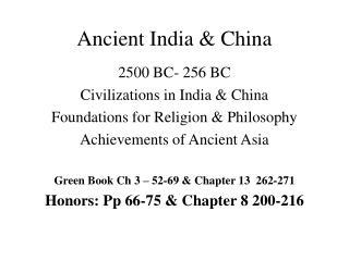 Ancient India & China