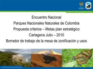 Encuentro Nacional   Parques Nacionales Naturales de Colombia