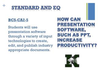Standard and EQ