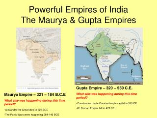 Powerful Empires of India The Maurya & Gupta Empires
