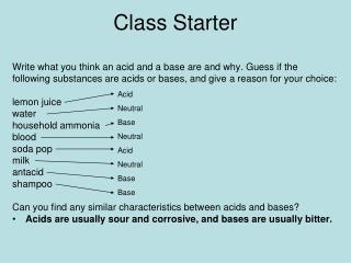 Class Starter