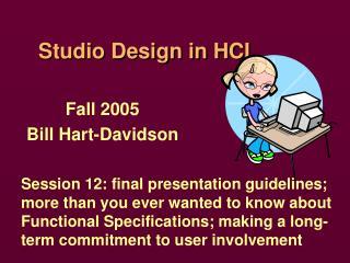 Studio Design in HCI