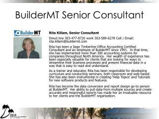BuilderMT Senior Consultant