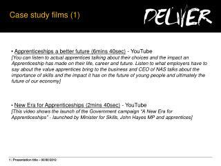 Case study films (1)