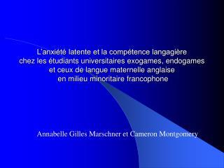 Annabelle Gilles Marschner et Cameron Montgomery