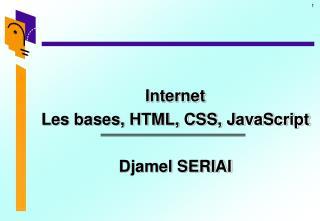 Internet Les bases, HTML, CSS, JavaScript Djamel SERIAI