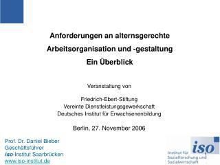 Veranstaltung von Friedrich-Ebert-Stiftung Vereinte Dienstleistungsgewerkschaft