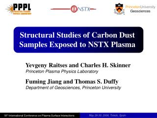 Structural Studies of Carbon Dust Samples Exposed to NSTX Plasma