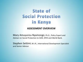 State of  Social Protection  in Kenya