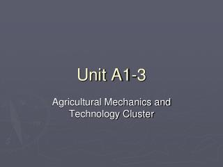 Unit A1-3