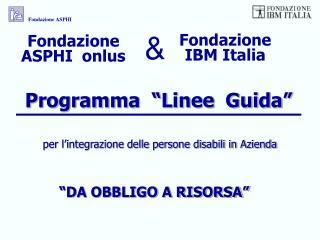 """Programma  """"Linee  Guida"""""""