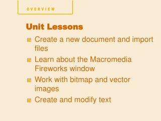 Unit Lessons