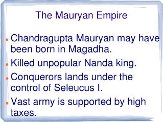 The Mauryan Empire