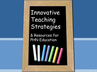 Innovative Teaching Strategies