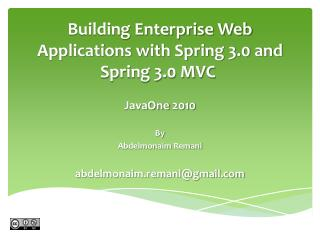 Building Enterprise Web Applications with Spring 3.0 and Spring 3.0 MVC