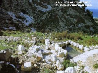 LA HUIDA AL DESIERTO Y  EL ENCUENTRO CON DIOS