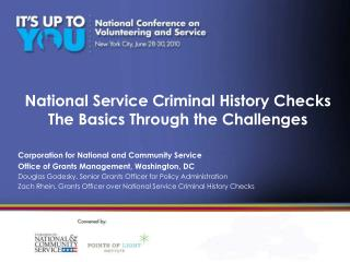 National Service Criminal History Checks  The Basics Through the Challenges