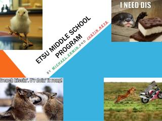 ETSU Middle school program