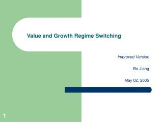 Value and Growth Regime Switching