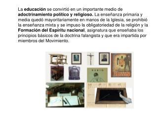 La educación franquista
