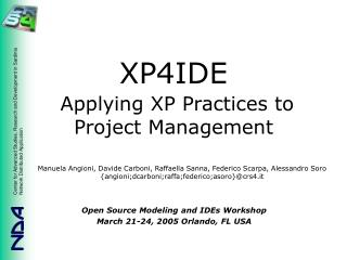 XP4IDE Applying XP Practices to Project Management