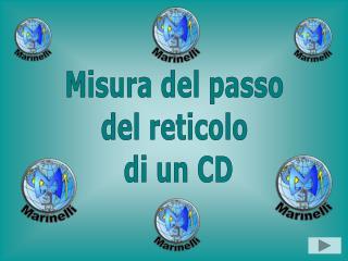 Misura del passo  del reticolo  di un CD