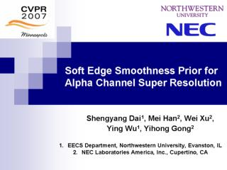 Soft Edge Smoothness Prior for Alpha Channel Super Resolution