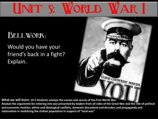 Unit 5: World War I