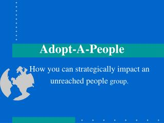 Adopt-A-People