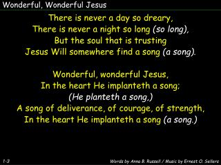 Wonderful, Wonderful Jesus
