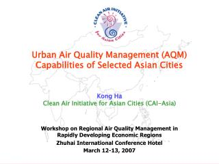 Urban Air Quality Management (AQM)  Capabilities of Selected Asian Cities