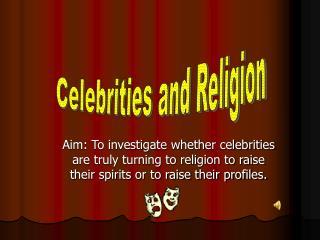 Celebrities and Religion