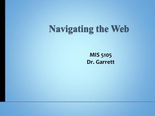 Navigating the Web