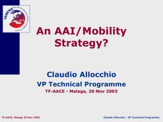 An AAI/Mobility Strategy?