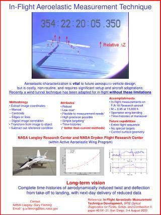 Contact NASA-Langley: Gary Fleming Email:  g.a.fleming@larc.nasa