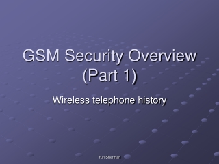 Signaling System for GSM Networks