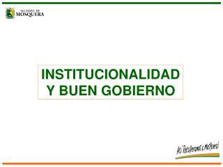 INSTITUCIONALIDAD Y BUEN GOBIERNO