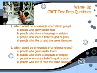 Warm- Up CRCT Test Prep Questions