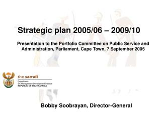 Strategic plan 2005/06 – 2009/10
