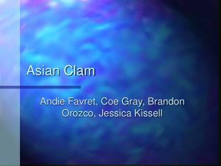 Asian Clam