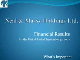Neal & Massy Holdings Ltd.