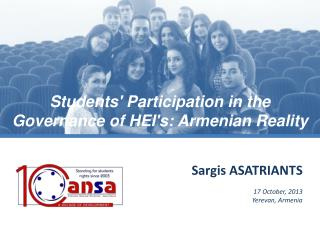 Sargis  ASATRIANTS 17  October , 2013 Yerevan, Armenia
