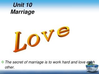 Unit 10 Marriage