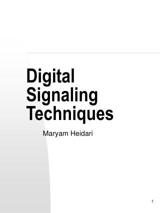 Digital Signaling Techniques